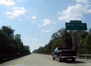 Louisiana's I-10 presented a unique construction challenge to the construction company that built it - namely, building a highway over the Atchafalaya Swamp.