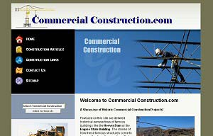 Featured Construction Company Website - Commercial Construction.com