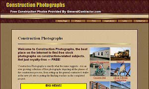 Featured Construction Company Website - Construction Photographs.com